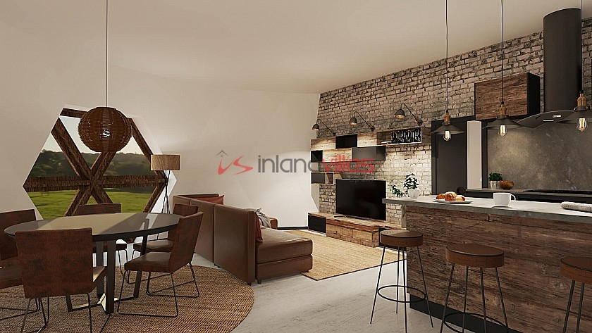 Dome Eco New Build - Austral model 1 bed 2 bath 108sqm in Inland Villas Spain