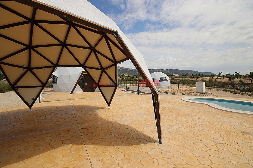 New unique and modern detached villa with a pool, terrace and garage in Inland Villas Spain