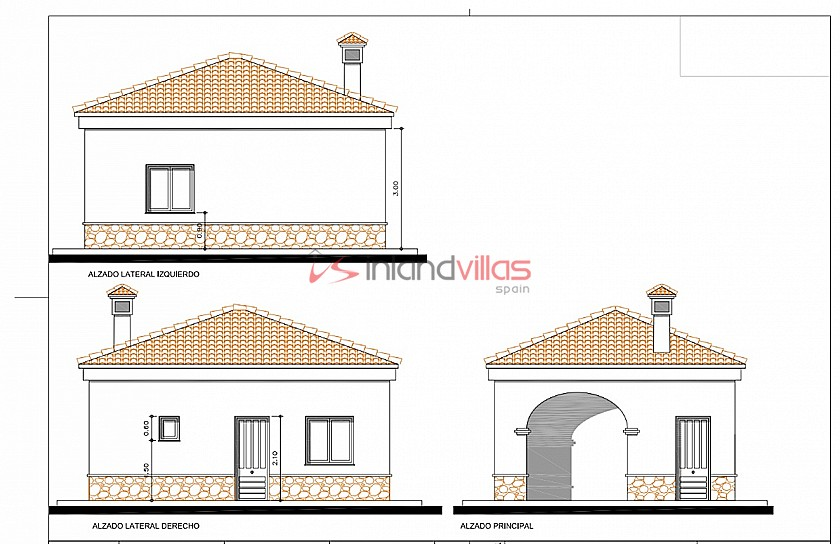 Luxury New Build with Pool €239,000 inc. land, licences & legalities  in Inland Villas Spain
